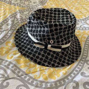 Kate Spade Navy blue/cream print bucket hat
